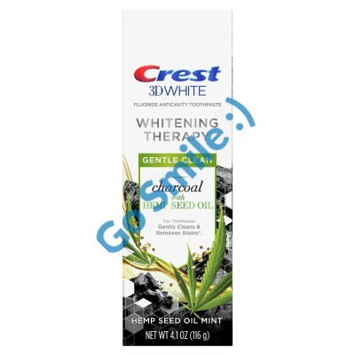Crest 3D White Whitening Therapy Charcoal Hemp Seed Oil Mint