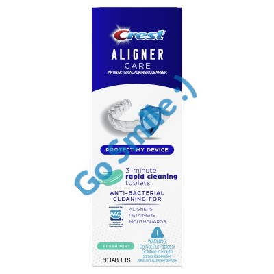 Crest Aligner Care Rapid Cleaning Tablets for Aligners, Retainers, Mouthguards