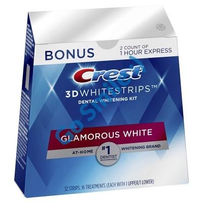 CREST 3D WHITE LUXE GLAMOROUS WHITE WHITESTRIPS+BONUS