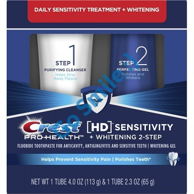 Crest Pro-Health HD Teeth Whitening and Healthier Mouth via Daily Two-Step System