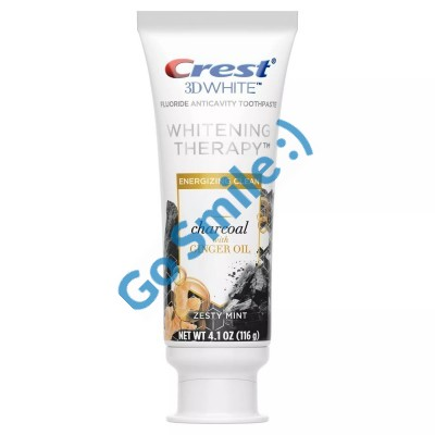 CREST 3D WHITE WHITENING THERAPY CHARCOAL WITH GINGER OIL