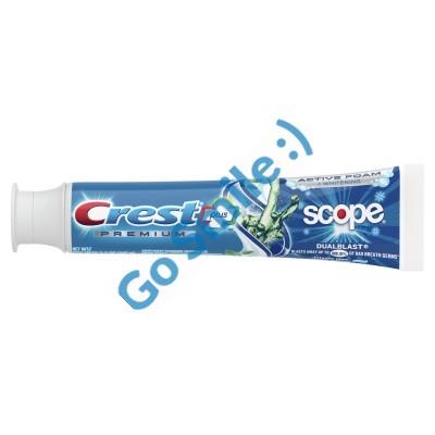 Зубная паста Crest Premium Plus Scope Dual Blast