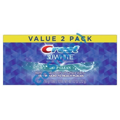 Crest 3D White Whitening Toothpaste Deep Clean
