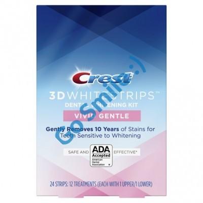 CREST 3D WHITE WHITESTRIPS CLASSIC VIVID GENTLE