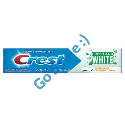 CREST FRESH AND WHITE PEPPERMINT PASTE TOOTHPASTE