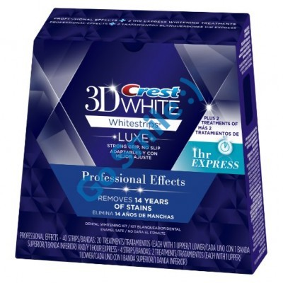 Crest 3D White Whitestrips Professional Effects + 1 Hour Express